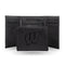 WISCONSIN UNIVERSITY LASER ENGRAVED BLACK TRIFOLD WALLET