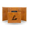 WISCONSIN - LACROSSE LASER ENGRAVED TRIFOLD WALLET - BROWN