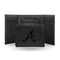 BRAVES LASER ENGRAVED BLACK TRIFOLD WALLET