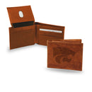 KANSAS STATE EMBOSSED LTHR BILLFOLD