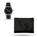CARDINALS - AZ SPARO BLACK WATCH AND WALLET GIFT SET