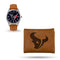 TEXANS SPARO BROWN WATCH AND WALLET GIFT SET