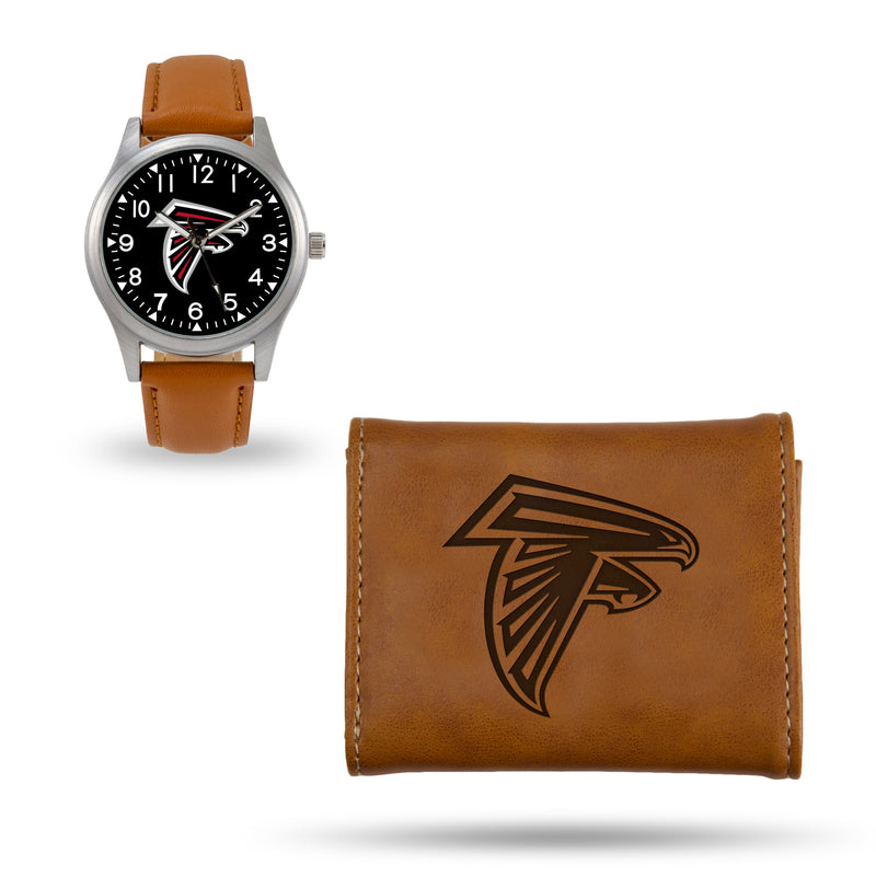 FALCONS SPARO BROWN WATCH AND WALLET GIFT SET