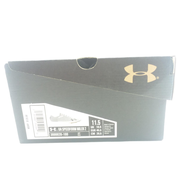 NEW Under Armour Men's Speedform Miler 2 Sz 11.5 Gray Track Shoe Sneaker Cleats