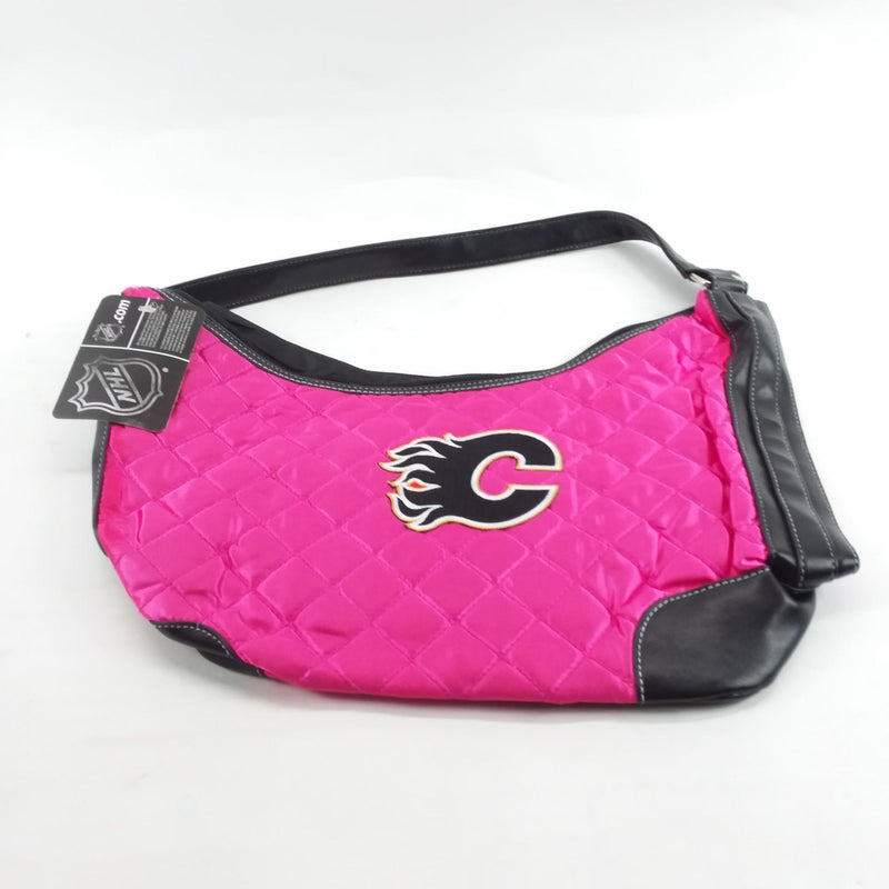 NHL Licensed Pro-FAN-ity Calgary Flames Quilted Handbag in Pink