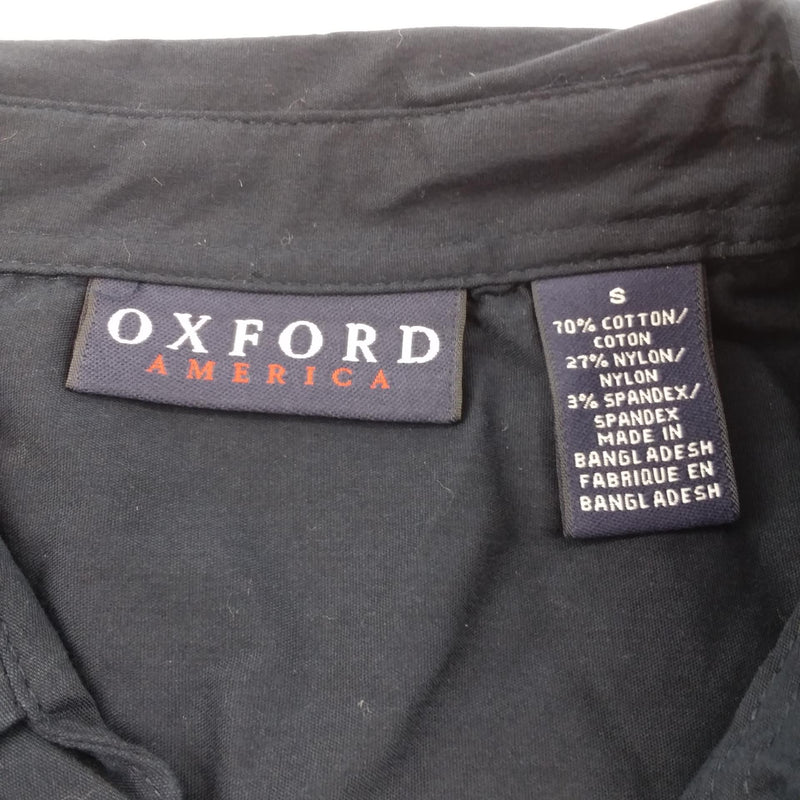 NWT Oxford Women's Rice University Owls Navy Short Sleeve Button Down Small