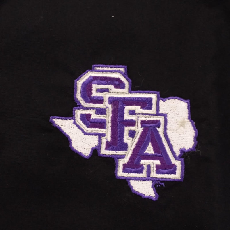 Oxford Women's Stephen F Austin State University 3/4 Sleeve Black Button Down L