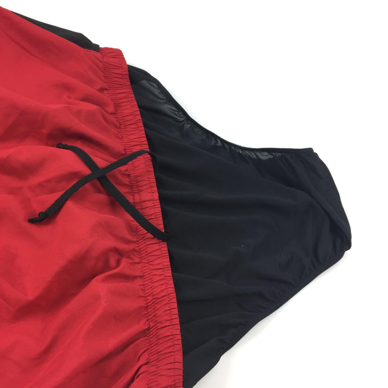 NWT Men's Asics Athletic Red Drawstring Back Zipper Pocket 55 Shorts Size XL