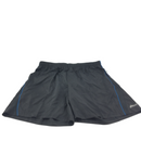 Men's Asics Optic Swirl Black And Blue Back Pocket Drawstring Short Size 2XL