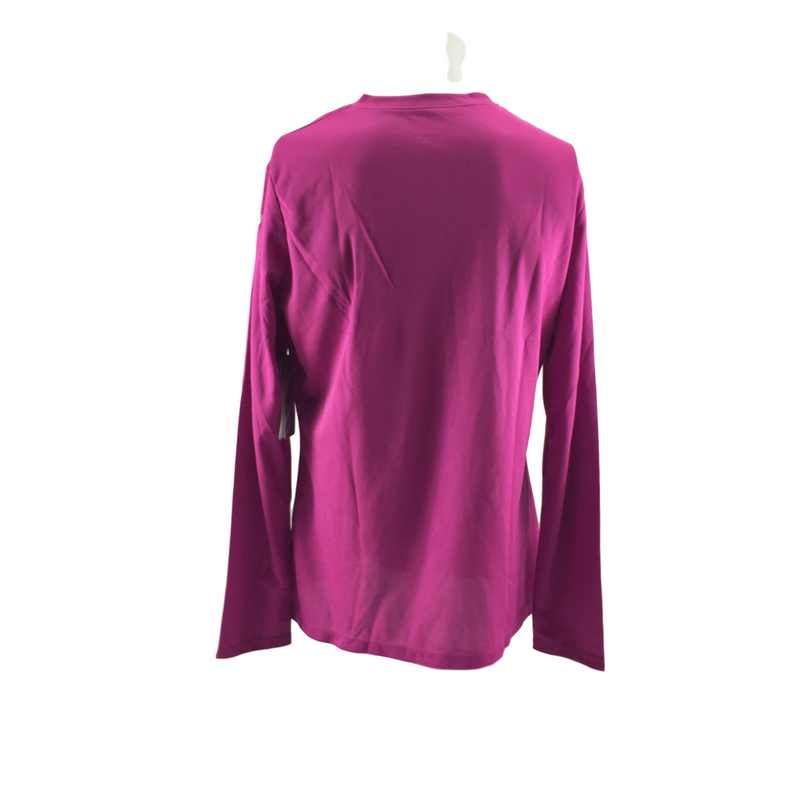 NWT Women's Asics Activewear Purple (17) Ready Set Long Sleeve Shirt Size XL