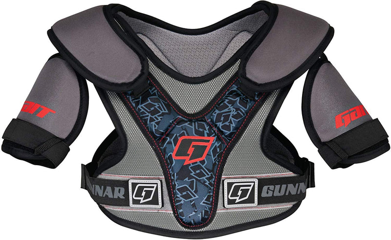 NWT Lacrosse Gait Gunnar Shoulder Pad Protection Size XXS Gray With Blue Accents