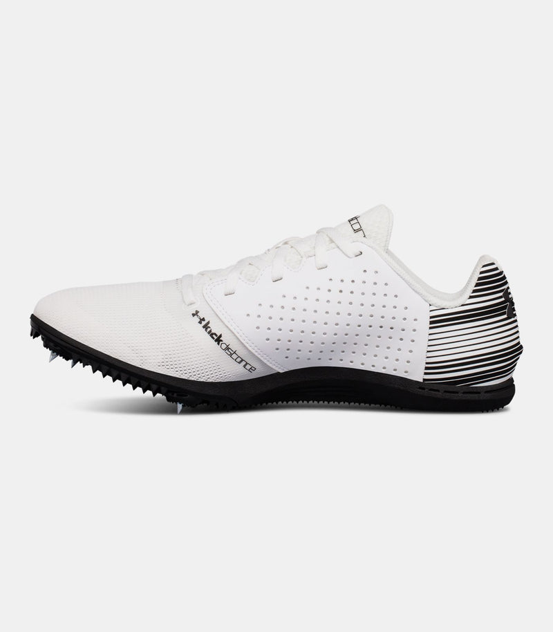 NEW Under Armour Men's Kick Distance Spike Cleats Size 12 White Shoe Sneaker