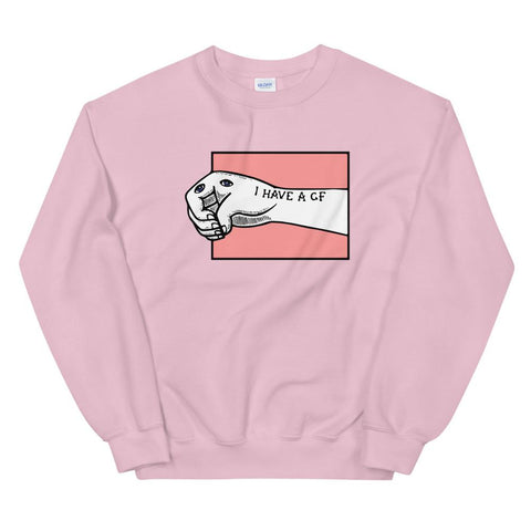 My Girlfriend Is My Right Hand Sweatshirt