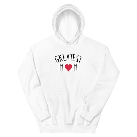funny mom hoodies - white greatest mom