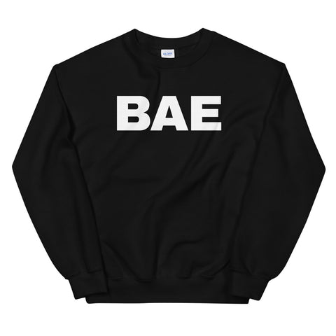 funny dad sweatshirts - black bae