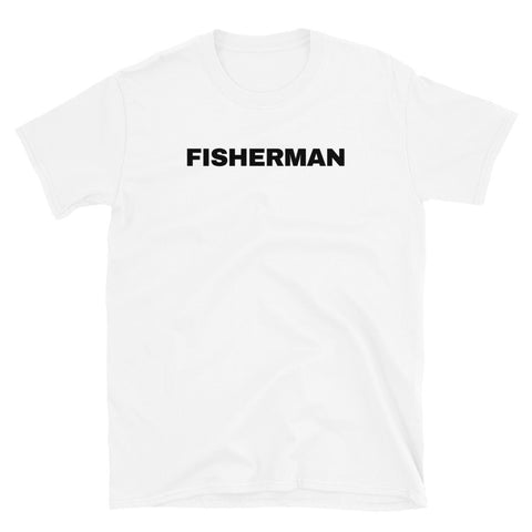 funny fishing t-shirts - white fisherman