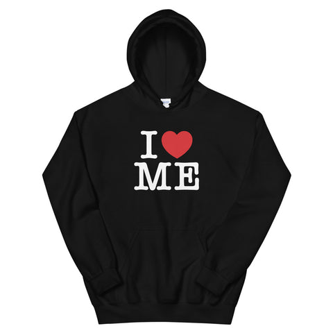 funny mom hoodies - black I Love Me