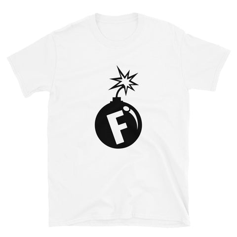 funny offensive t-shirts - white f-bomb
