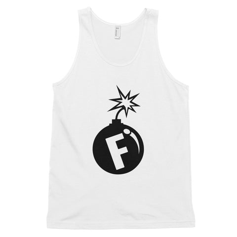 funny offensive tank tops - white f-bomb
