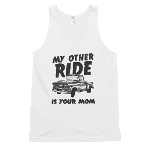 funny offensive tank tops - white My Other Ride Is Your Mom