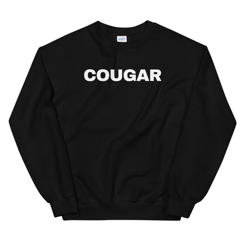 funny mom sweatshirts - black cougar