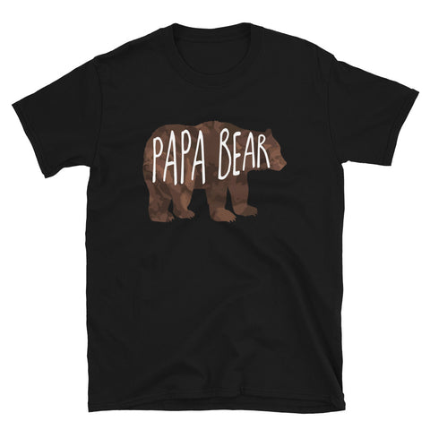 funny dad t-shirts - black papa bear v2