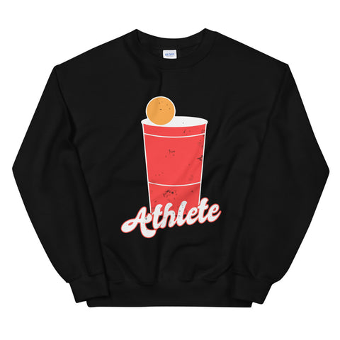 funny drinking sweatshirts - black Beer Pong Athlete