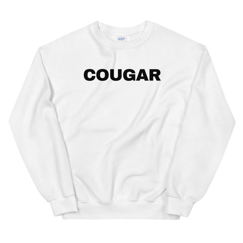 funny mom sweatshirts - white cougar