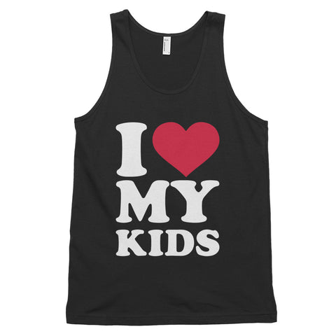 funny mom tank tops - black i love my kids
