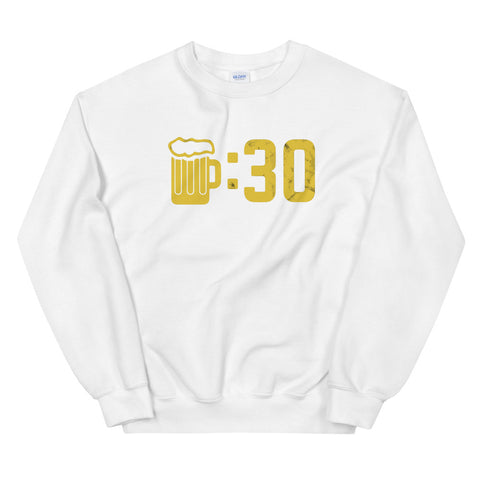 funny drinking sweatshirts - white Beer O'Clock