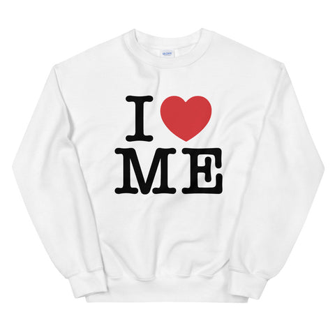 funny mom sweatshirts - white i love me