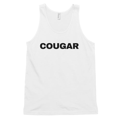 funny mom tank tops - white cougar