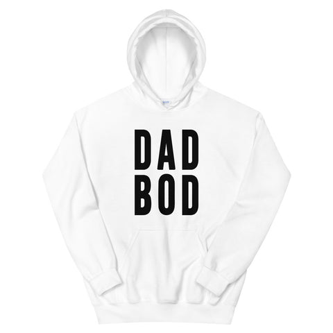 funny dad hoodies - white dad bod