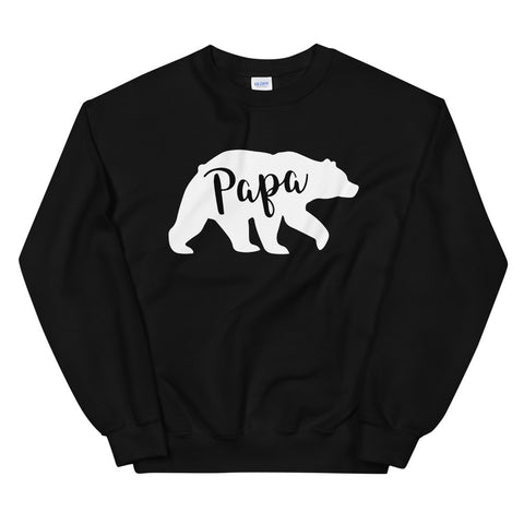 funny dad sweatshirts - black Papa Bear V3