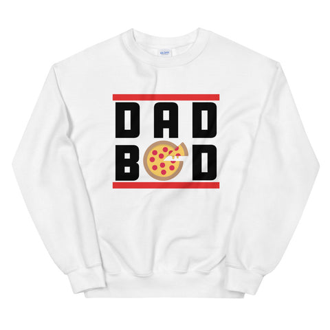 funny dad sweatshirts - white dad bod pizza