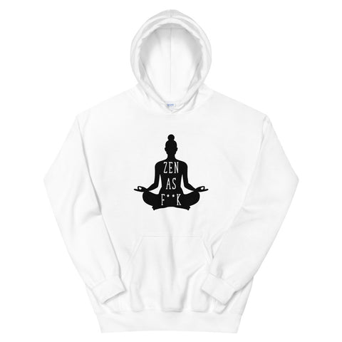 funny yoga hoodies - white zen as f*ck