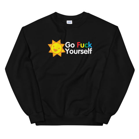 funny offensive sweatshirts - black go fuck yourself v2