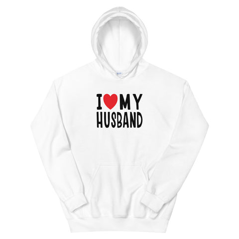 funny dad hoodies - white I Love My Husband V2