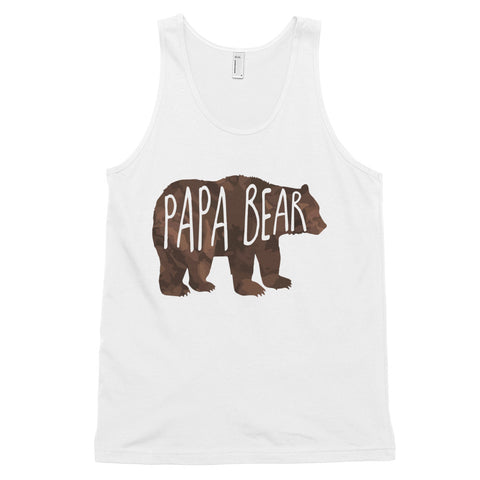 funny dad tank tops - white Papa Bear V2