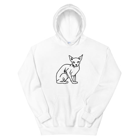 funny cat hoodies - white sphynx cat