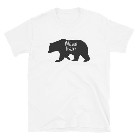 funny mom t-shirts - white mama bear