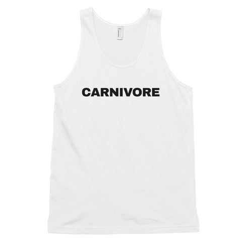 funny workout tank tops - white carnivore