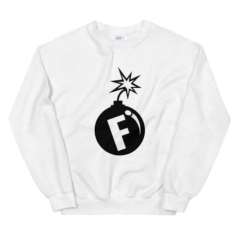 funny offensive sweatshirts - white f-bomb