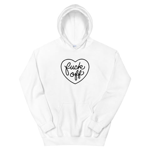 funny offensive hoodies - white fuck off