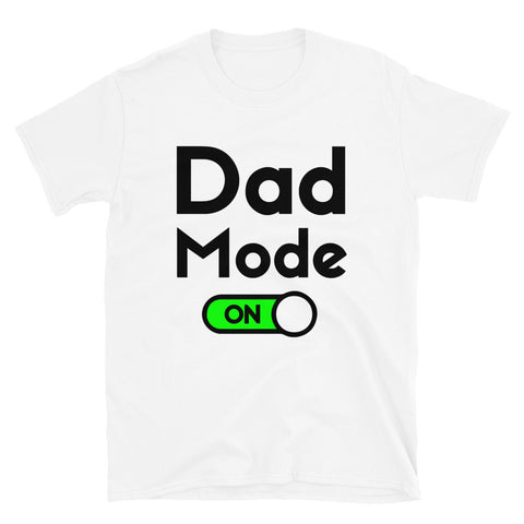 funny dad t-shirts - white Dad Mode On