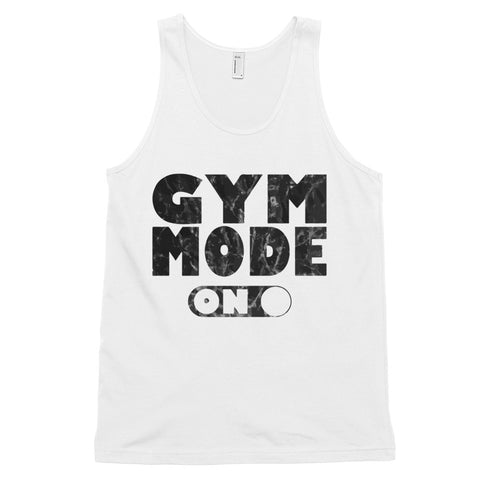 funny workout tank tops - white Gym Mode On