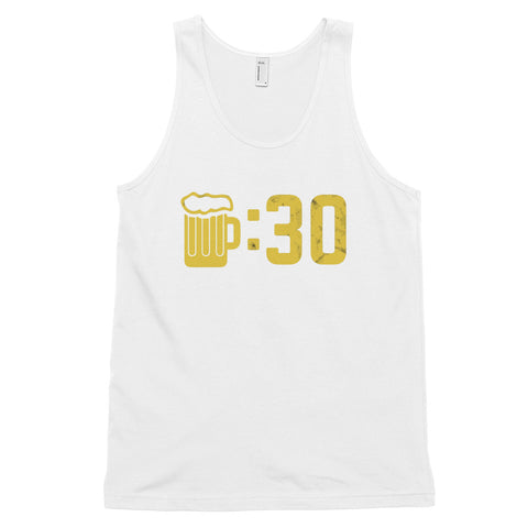 funny drinking tank tops - white Beer O'Clock