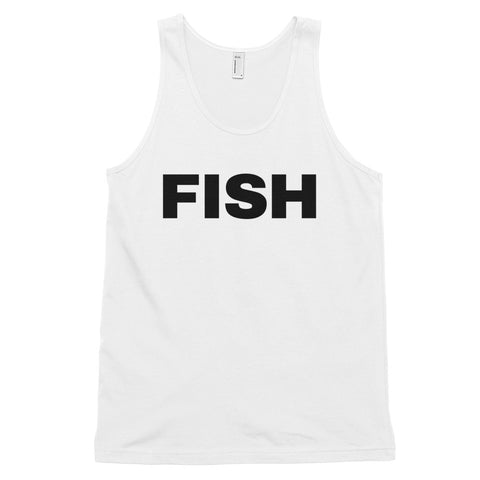 funny fishing tank tops - white fish