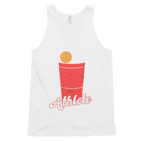 funny drinking tank tops - white Beer Pong Athlete