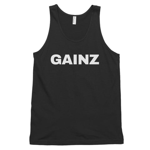 funny workout tank tops - black gainz